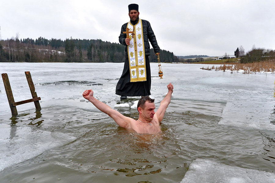 прорубь крещение