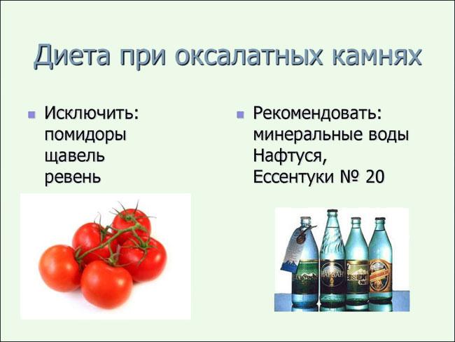 питание при оксалатах