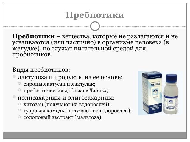 назначение пребиотиков